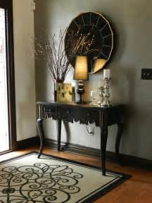 Entryway Table With Mirror Create Impact With Console Tables In The Entry Artisan Crafted Iron Furnishings And Decor
