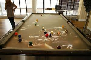 expensive pool tables obscura cuelight adds entertainment to a game of pool for