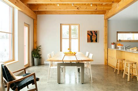 the go home passive house contemporary dining room