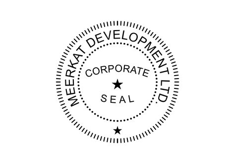 company seal template corporate seal st