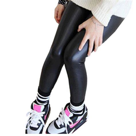 Legging Fashion Baby Sorex K5303 baby legging 2016 fashion length faux pu leather