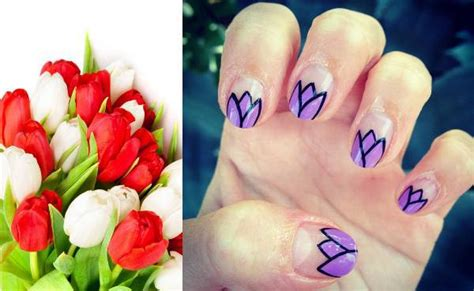 tutorial nail fiori nail tutorial fiori i tulipani
