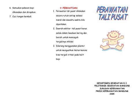Alkafil Kasa Alkohol Tali Pusar Bayi leaflet perawatan tali pusat akper pemkab muna