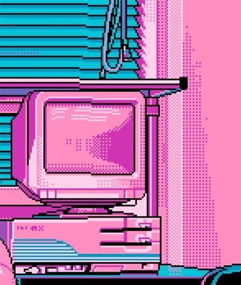theme tumblr vaporwave computer lovely pixel images pinterest vaporwave