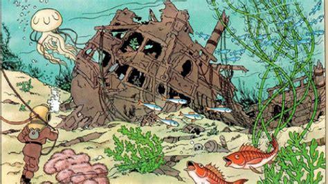 schip wrak wrak kogge bij ken in aquarium onder water