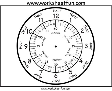 printable clock preschool worksheet learning to tell time grass fedjp worksheet