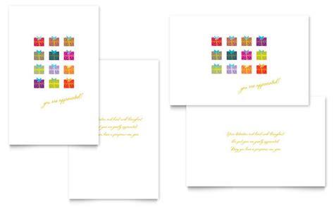 Half Fold Greeting Card Templates For Corel Wordperfect by Presents Greeting Card Template Design