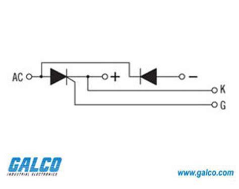 how to test thyristor diode modules td104n12kof infineon hybrid scr diode power modules