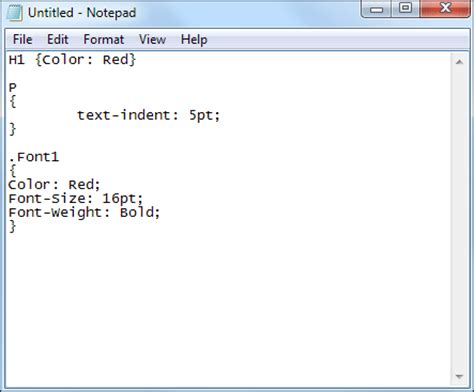 format html tags in notepad html section 3 getting started with css