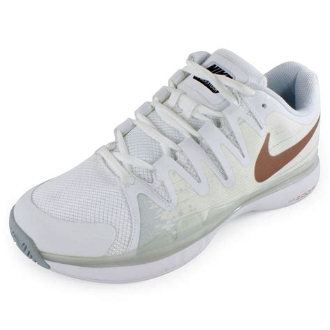 s zoom vapor 9 5 tour tennis shoes white and