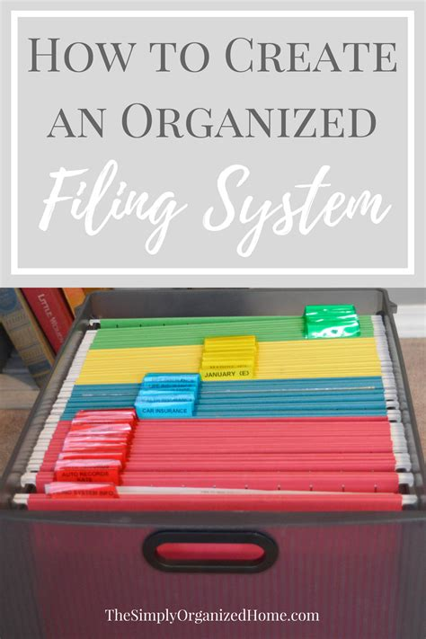 how to organize your office and keep it that way create an organized filing system the simply organized home