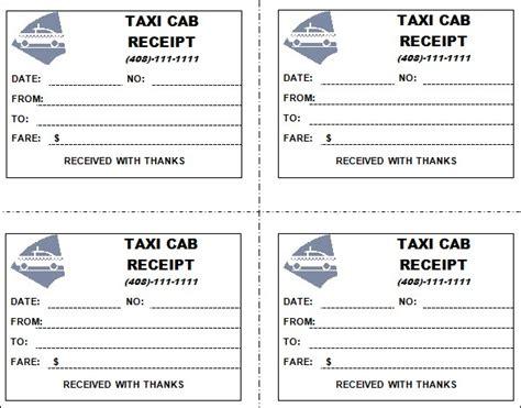 7 taxi receipt templates word excel pdf formats