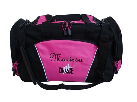 personalized embroidered duffel bag large dance ballet