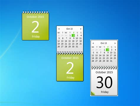 Calendar Desktop Gadget Lime Green Calendar Windows 7 Desktop Gadget