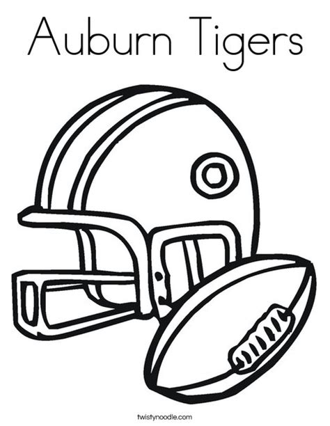 auburn tiger coloring page auburn tigers coloring page twisty noodle