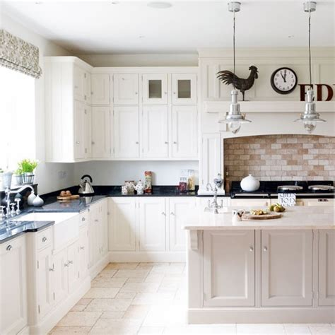 White Country Kitchen Cabinets by White Kitchen With Country Styling White Kitchens