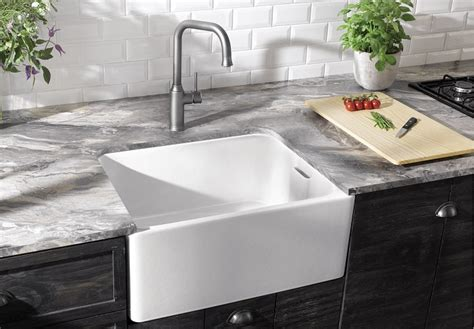Belfast Sink In Modern Kitchen by Timeless Style With The New Blanco Belfast Sink Plumbing
