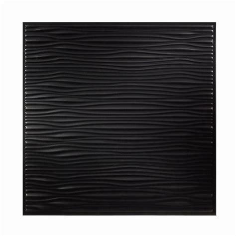 Genesis Ceiling Genesis 2 Ft X 2 Ft Drifts Black Ceiling Tile 751 07