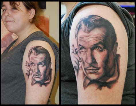 tattoos and prices vincent price portrait by victor modafferi tattoonow