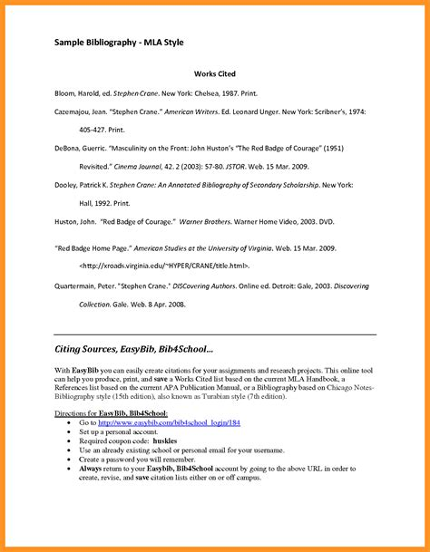 mla citation template template for mla works cited page