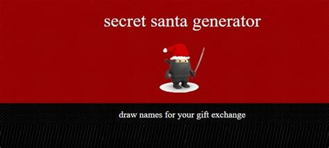 secret name generator 6 best secret santa websites to use this