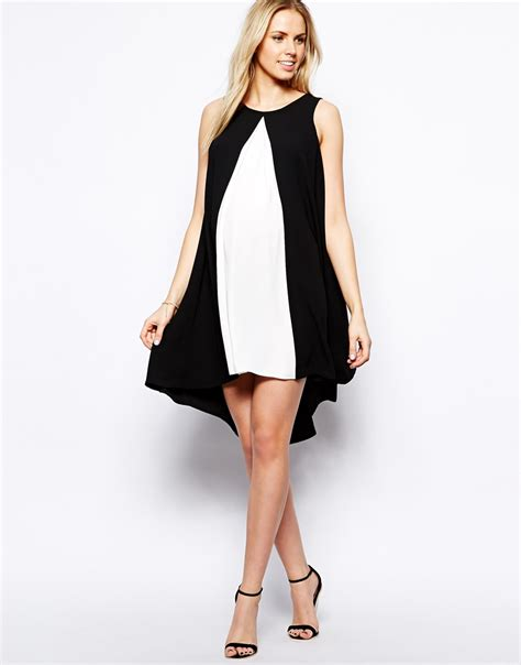 maternity swing dress asos maternity swing dress with contrast front and dipped