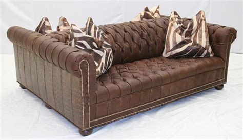 Double Sided Tufted Leather Sofa High End Furniture High End Sofa