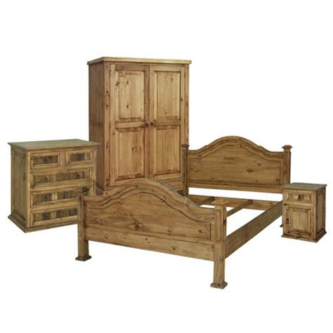 king roma mexican rustic pine headboard bed mattress sale