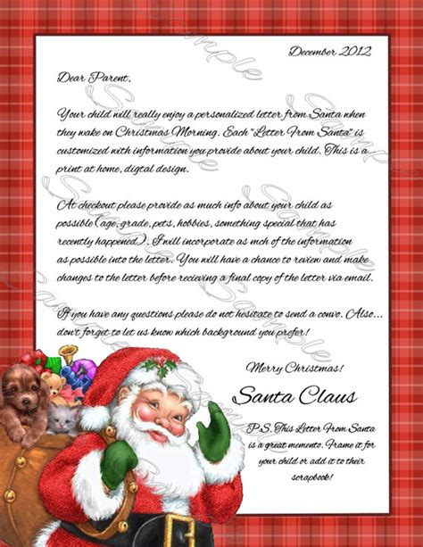 personalised letter from santa charity unavailable listing on etsy