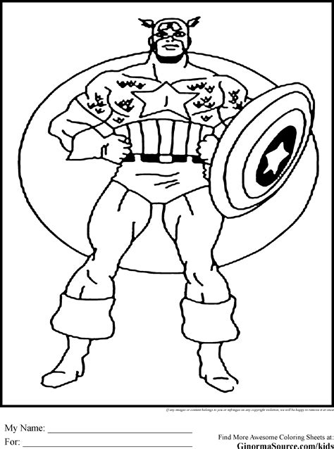 the avengers coloring pages captain america shield
