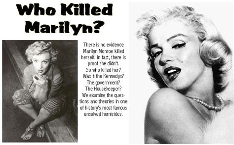 how did marylin die our world april 2006