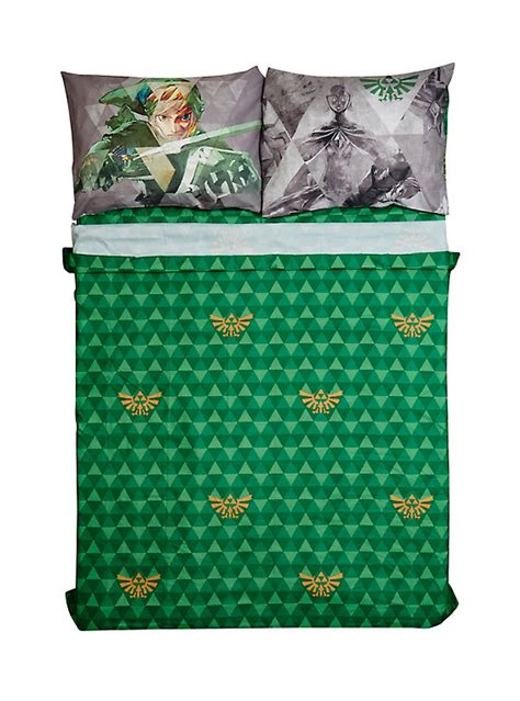 zelda bed set the legend of zelda microfiber full sheet set hot topic