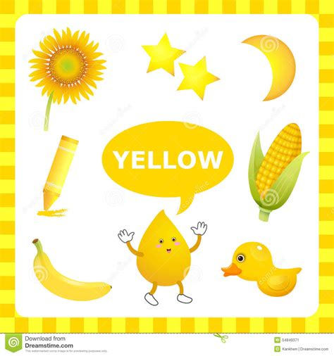 things that are yellow in color www imgkid com the