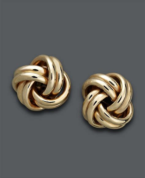 Knot Stud Earring 18k gold earrings knot stud earrings