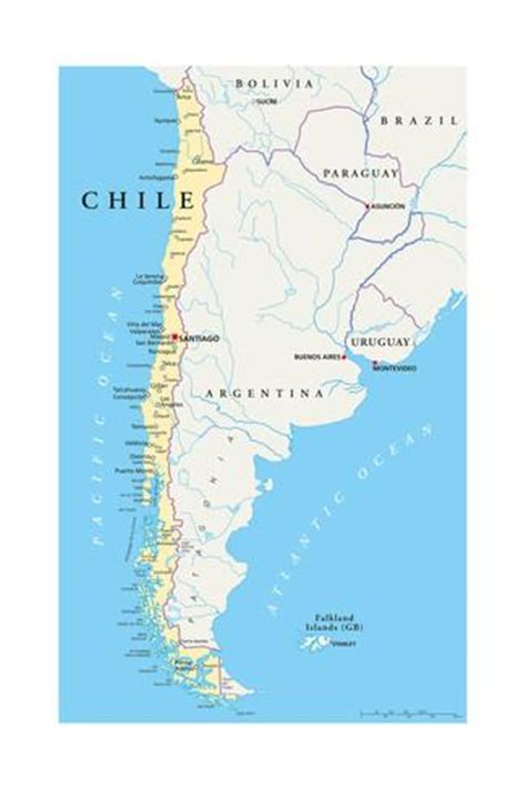 chile political map chile political map prints by hermes furian
