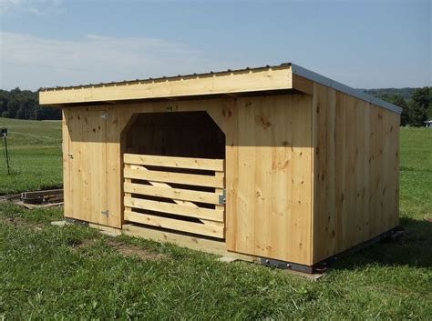 how to build a goat house plans