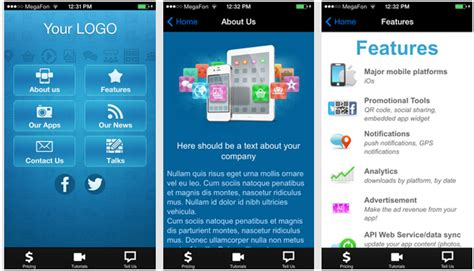 templates for apps and microsoft templates for mobile apps