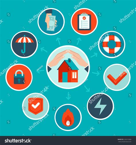 house insurance newfoundland vector house insurance concept in flat style infographic design elements and icons