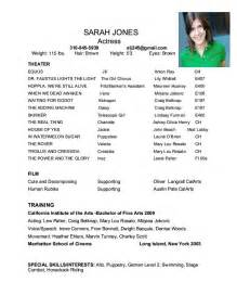 Theatre Resume Template by Musical Theatre Resume Car Interior Design