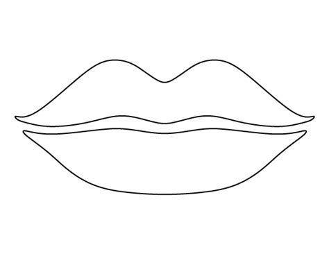 printable mouth templates lips pattern use the printable outline for crafts