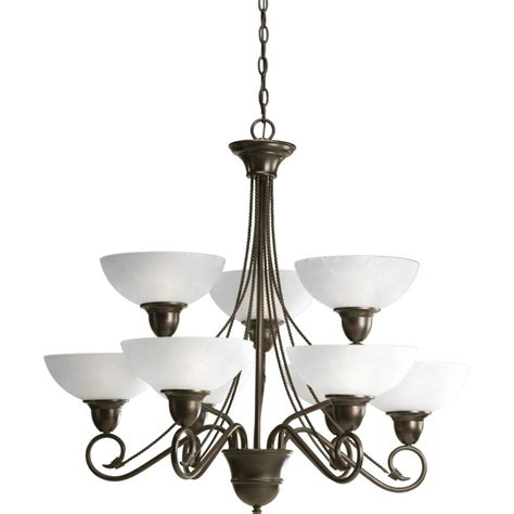 Cheap Chandeliers Canada Hammered Glass Collection 3 Light Chandelier In Rubbed Bronze Tn 30030 Canada Discount
