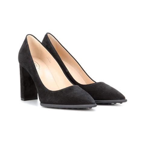 tod s black suede pumps 183 kate middleton style