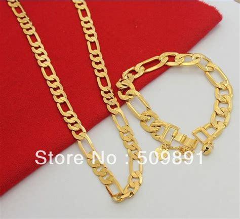 Flat Rantai popular 24 carat gold buy cheap 24 carat gold lots from