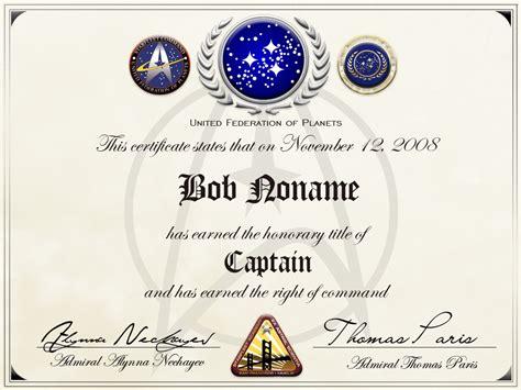 printable starfleet academy diploma starfleet honorary captainship by balsavor on deviantart