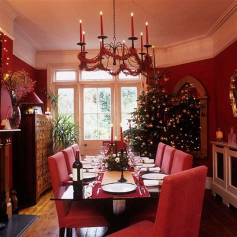 red dining room ideas traditional red christmas dining room traditional
