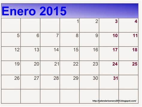 Calendario De Enero Calendario Mes De Enero 2015 Images