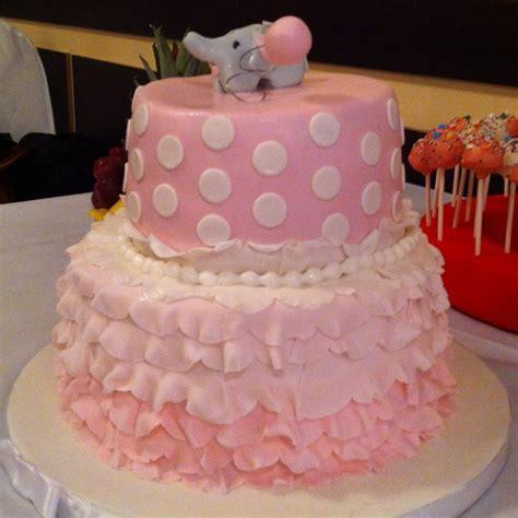 pink elephant baby shower cake elephant themed baby shower cake so adorable pink