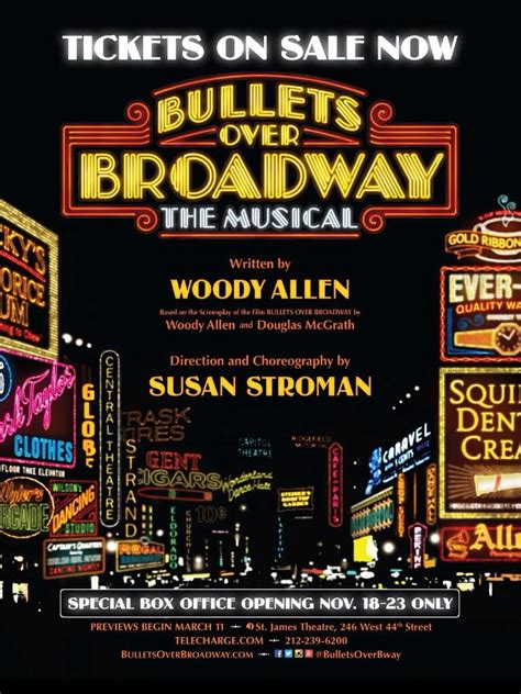 Wanted To Do Broadway by Bullets Broadway Musical The Woody Allen Pages