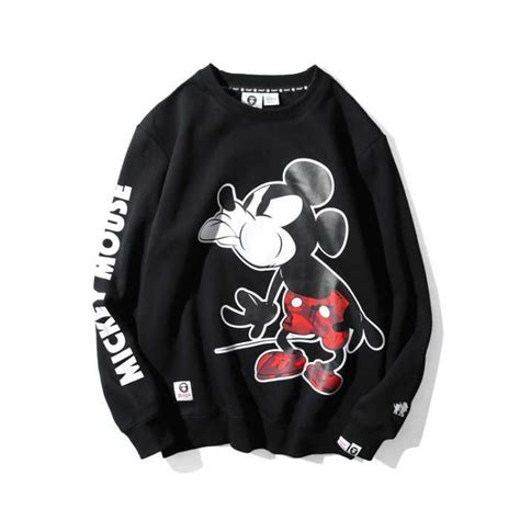 St Mickey Mouse Grey Cc buy cheap aape universe mickey mouse pattern black