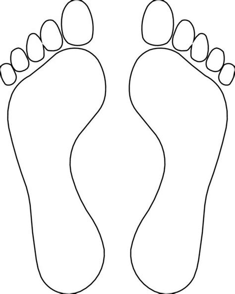 Footprint clipart coloring page, Footprint coloring page